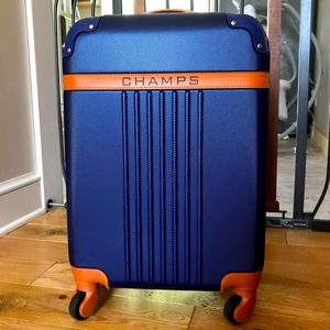 Champs carry on luggage blue spinner